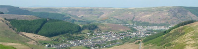 view from the Bwlch mountain road